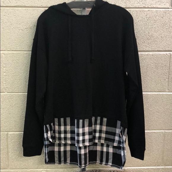 Sanctuary Tops - New with tags sanctuary sweatshirt with plaid hem